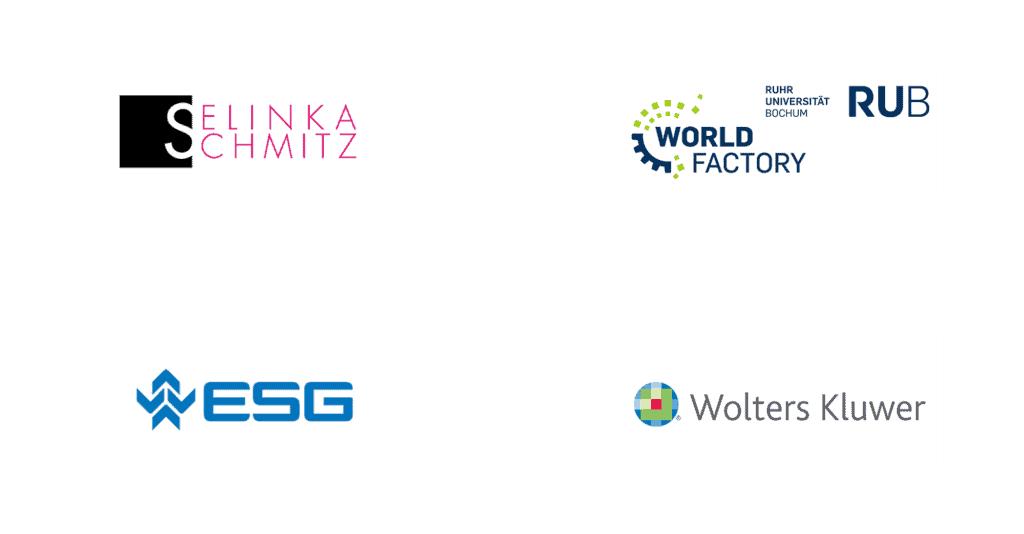Referenzgruppe Kommunikationsagentur Selinka Schmitz Ruhr Universität Bochum ESG Wolters Kluwer der Kategorie Online und Hybrid Event sowie Präsenzveranstaltung