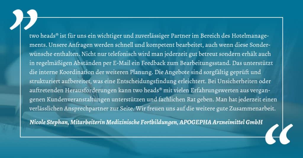 Kundenstimme der APOGEPHA der Kategorie Online und Hybrid Event sowie Präsenzveranstaltung