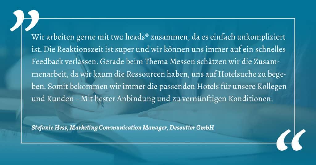 Business Events Kundenmeinung der Dessouter GmbH
