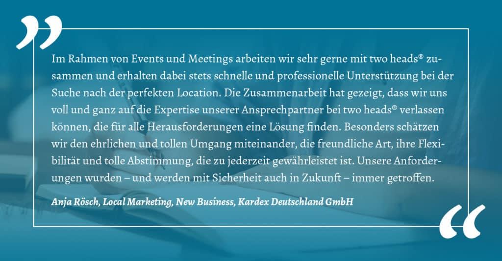 Business Events Kundenstimme von Kardex