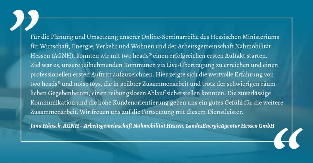 Business Events Kundenreferenz der AGNH