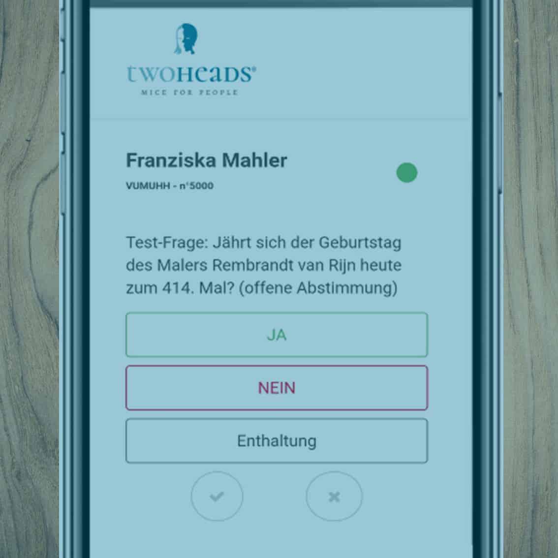 Votebox als rechtskonformes Abstimmungstool am Smartphone für Online & Hybrid Events