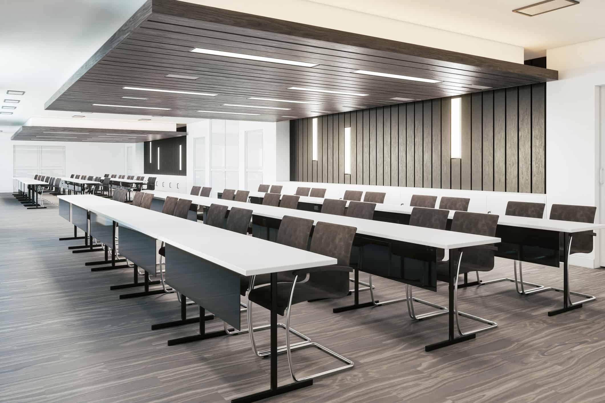 Seminarraum und Workshopraum für Fortbildungen passend zu Online und Hybrid Event sowie Präsenzveranstaltung
