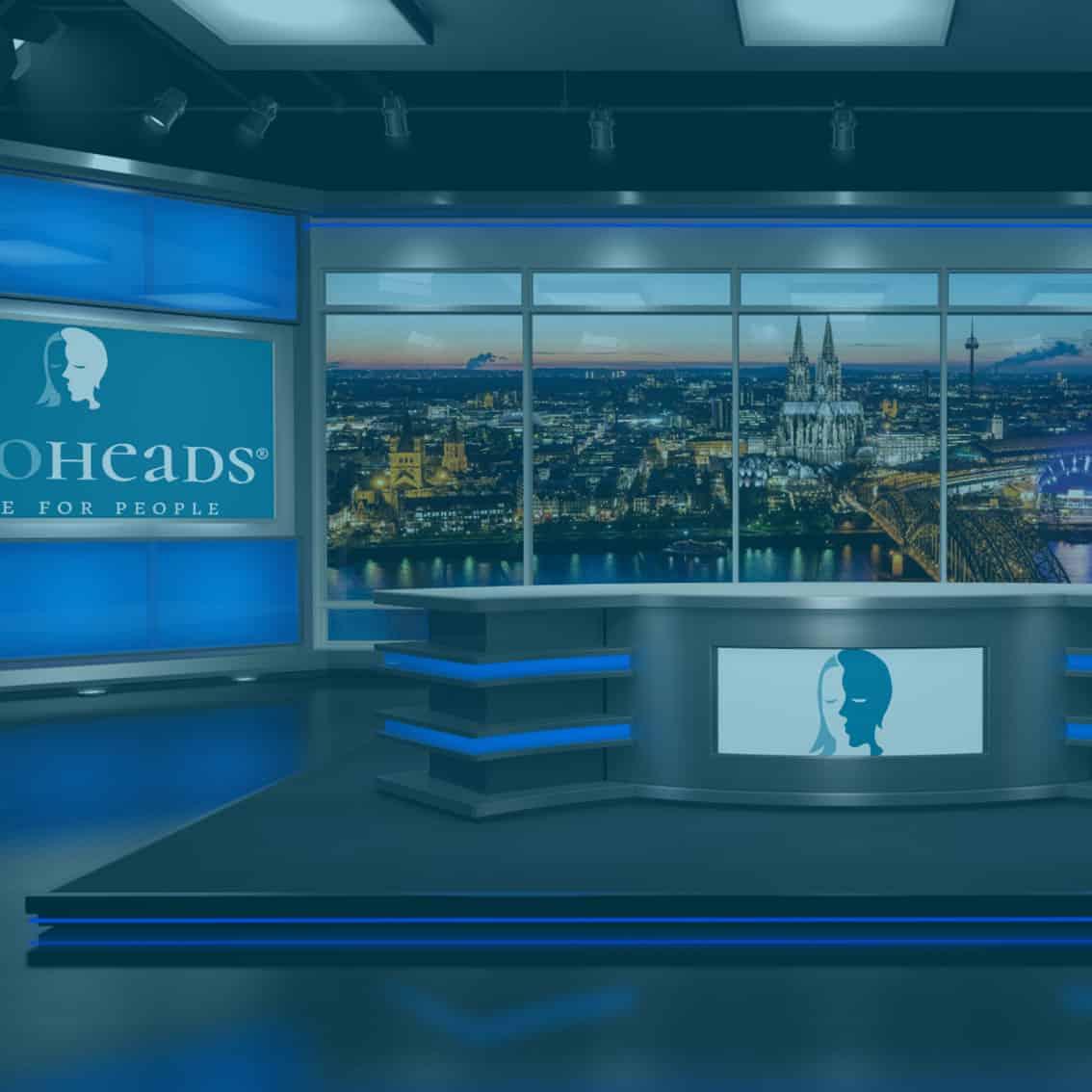 Virtuelles Studio für Online Events in eigenem Corporate Design