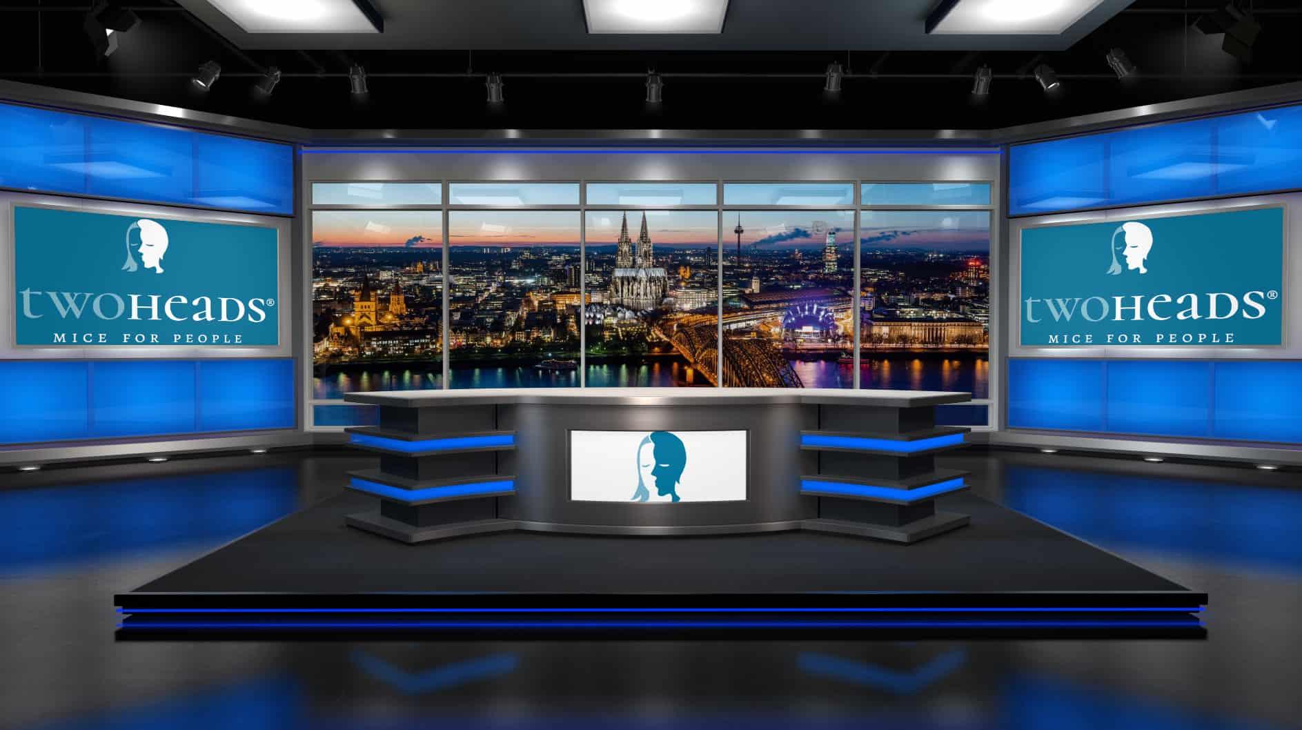 virtuelles studio von two heads®